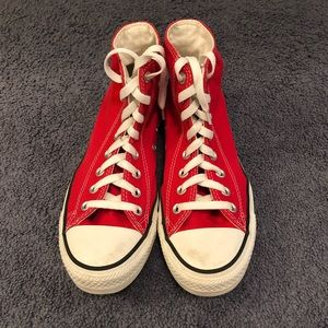 Converse Red Chuck Taylor All Star Hi Women 8.5